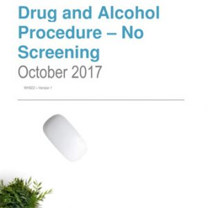 Drug and Alcohol Procedure – No Screening