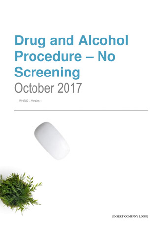 Drug and Alcohol Procedure – No Screening