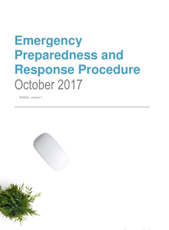 Emergency Preparedness and Response Procedure