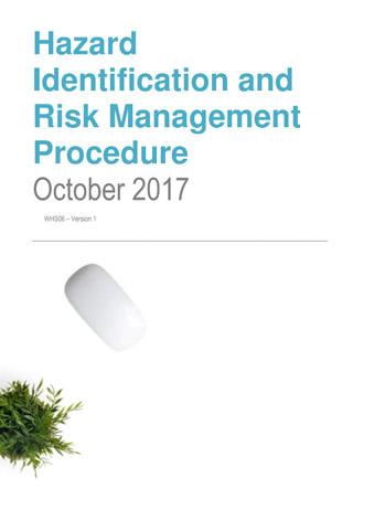 Hazard Identification and Risk Management Procedure