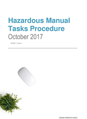 Hazardous Manual Tasks Procedure