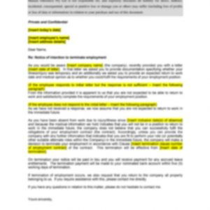 Long Term Illness-Injury Termination Letter