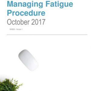 Managing Fatigue Procedure