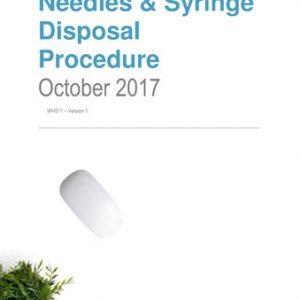 Needles and Syringe Disposal Procedure