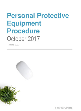 Personal Protective Equipment Procedure