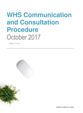 Workplace Health and Safety Communication and Consulation Procedure