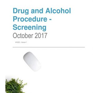 Drug and Alcohol Procedure – Screening
