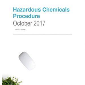 Hazardous Chemicals Procedure