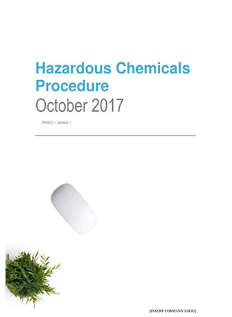 Hazardous Chemicals Procedure