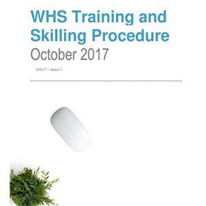 Workplace Health & Safety Training and Skilling Procedure