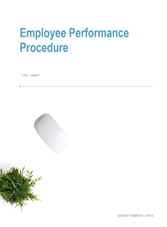 Employee Performance Procedure