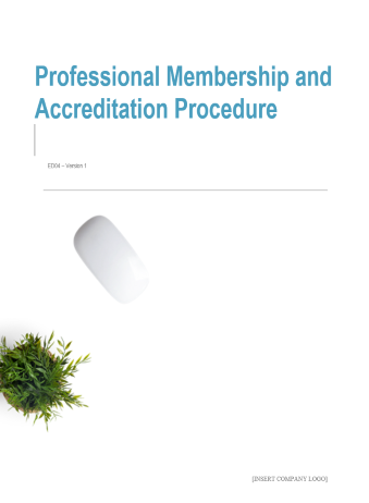 Professional Membership and Accreditation Procedure