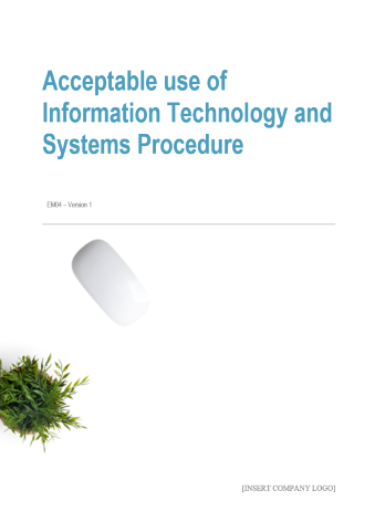 Acceptable use of Information Technology and System Procedure