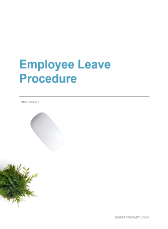 Employee Leave Procedure