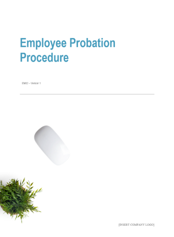 Employee Probation Procedure