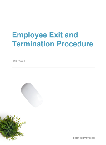 Employee Exit and Termination Procedure