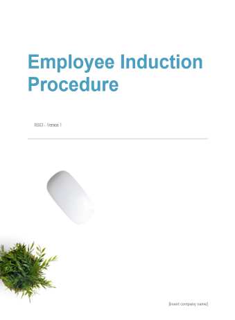 Employee Induction Procedure
