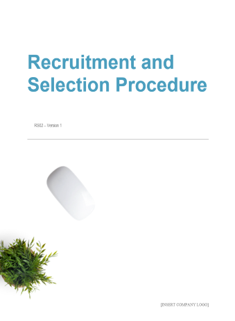 Recruitment and Selection Procedure