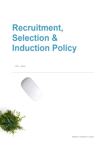 Recruitment Selection and Induction Policy