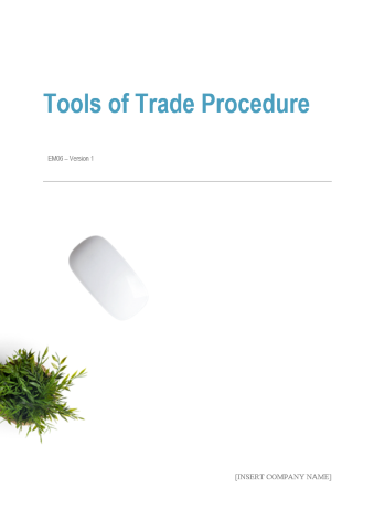 Employee 'Tools of Trade' Procedure