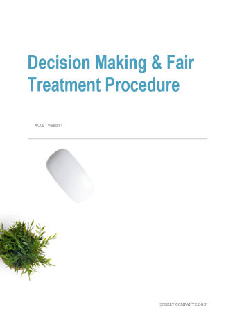 Decision Making and Fair Treatment Procedure