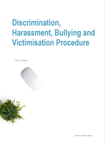 Discrimination, Harassment, Bullying and Victimisation Procedure