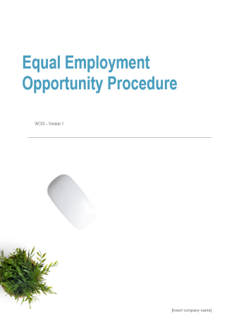 Equal Employment Opportunity Procedure