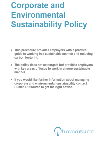 Corporate & Environmental Sustainability Policy