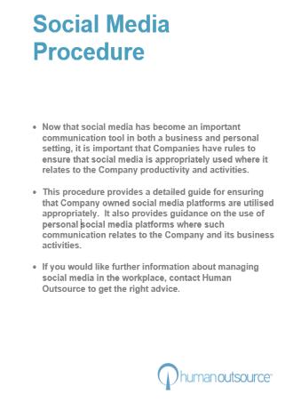 Social Media Procedure
